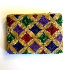 Neiman Marcus Beaded Pouch - Vintage